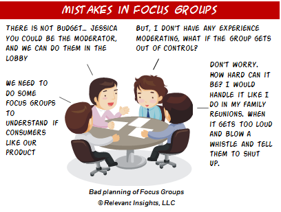 Mistakes in Focus Groups