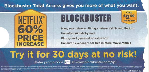 Blockbuster offer