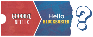 Netflix Price Change - Blockbuster Flyer
